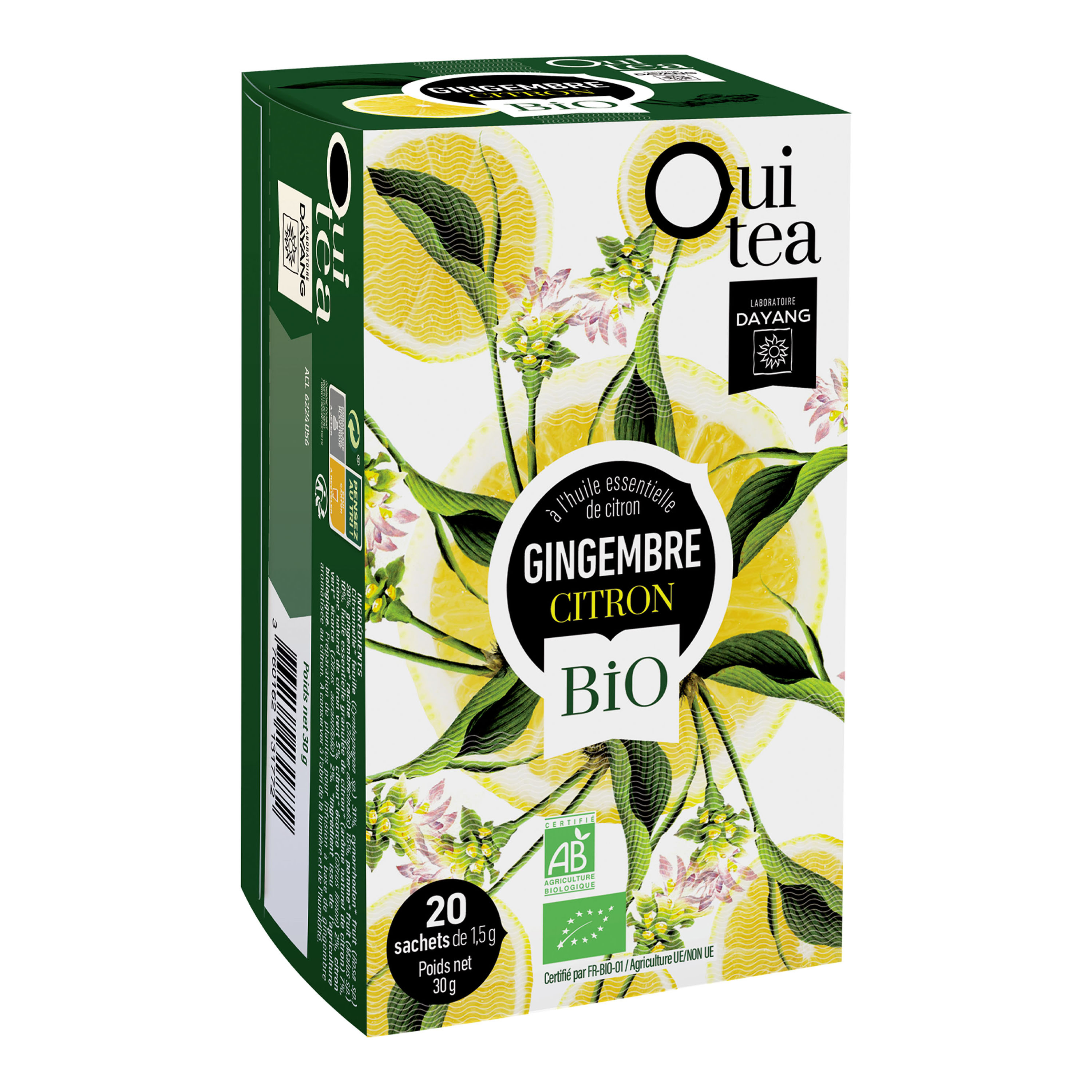 OUI TEA gingembre citron BIO